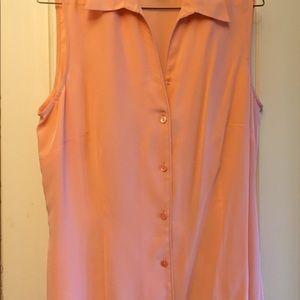Jones Wear size 10 peach silk blouse